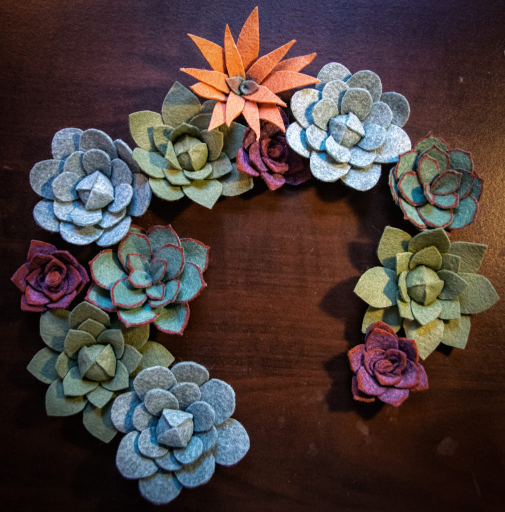 Basic felt succulents.